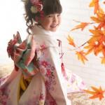 大阪の七五三写真撮影スタジオ・ハニーアンドクランチの7歳女の子和装のフォトギャラリーB155