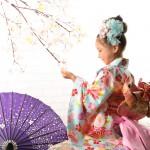 大阪の七五三写真撮影スタジオ・ハニーアンドクランチの7歳女の子和装のフォトギャラリーB158