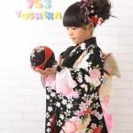 大阪の七五三写真撮影スタジオ・ハニーアンドクランチの7歳女の子和装のフォトギャラリーB159