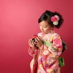 大阪の七五三写真撮影スタジオ・ハニーアンドクランチの7歳女の子和装のフォトギャラリーB162