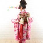大阪の七五三写真撮影スタジオ・ハニーアンドクランチの7歳女の子和装のフォトギャラリーB169