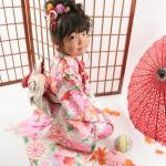 大阪の七五三写真撮影スタジオ・ハニーアンドクランチの7歳女の子和装のフォトギャラリーB174