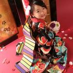 大阪の七五三写真撮影スタジオ・ハニーアンドクランチの7歳女の子和装のフォトギャラリーB180