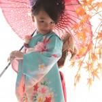 大阪の七五三写真撮影スタジオ・ハニーアンドクランチの7歳女の子和装のフォトギャラリーB181