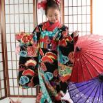 大阪の七五三写真撮影スタジオ・ハニーアンドクランチの7歳女の子和装のフォトギャラリーB195