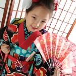 大阪の七五三写真撮影スタジオ・ハニーアンドクランチの7歳女の子和装のフォトギャラリーB196