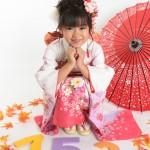 大阪の七五三写真撮影スタジオ・ハニーアンドクランチの7歳女の子和装のフォトギャラリーB207