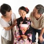 大阪の七五三写真撮影スタジオ・ハニーアンドクランチの7歳女の子和装のフォトギャラリーB209