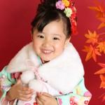大阪の七五三写真撮影スタジオ・ハニーアンドクランチの7歳女の子和装のフォトギャラリーB217