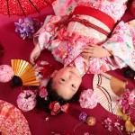 大阪の七五三写真撮影スタジオ・ハニーアンドクランチの7歳女の子和装のフォトギャラリーB223