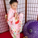 大阪の七五三写真撮影スタジオ・ハニーアンドクランチの7歳女の子和装のフォトギャラリーB224