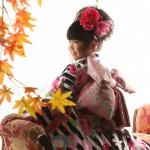 大阪の七五三写真撮影スタジオ・ハニーアンドクランチの7歳女の子和装のフォトギャラリーB229