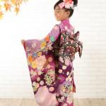 大阪の七五三写真撮影スタジオ・ハニーアンドクランチの7歳女の子和装のフォトギャラリーB231