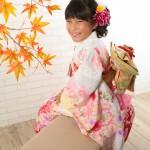 大阪の七五三写真撮影スタジオ・ハニーアンドクランチの7歳女の子和装のフォトギャラリーB233