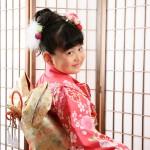 大阪の七五三写真撮影スタジオ・ハニーアンドクランチの7歳女の子和装のフォトギャラリーB234