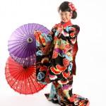 大阪の七五三写真撮影スタジオ・ハニーアンドクランチの7歳女の子和装のフォトギャラリーB235
