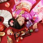 大阪の七五三写真撮影スタジオ・ハニーアンドクランチの7歳女の子和装のフォトギャラリーB239