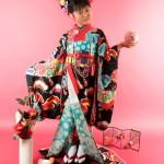 大阪の七五三写真撮影スタジオ・ハニーアンドクランチの7歳女の子和装のフォトギャラリーB243
