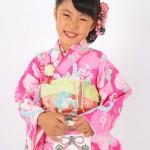 大阪の七五三写真撮影スタジオ・ハニーアンドクランチの7歳女の子和装のフォトギャラリーB246