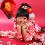 大阪の七五三写真撮影スタジオ・ハニーアンドクランチの7歳女の子和装のフォトギャラリーB248