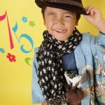 大阪の七五三写真撮影スタジオ・ハニーアンドクランチの男の子の和装のフォトギャラリーC002