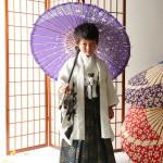大阪の七五三写真撮影スタジオ・ハニーアンドクランチの男の子の和装のフォトギャラリーC003