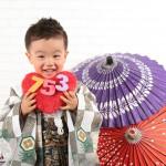 大阪の七五三写真撮影スタジオ・ハニーアンドクランチの男の子の和装のフォトギャラリーC021