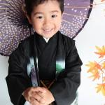 大阪の七五三写真撮影スタジオ・ハニーアンドクランチの男の子の和装のフォトギャラリーC028