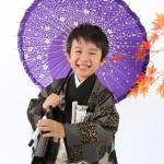 大阪の七五三写真撮影スタジオ・ハニーアンドクランチの男の子の和装のフォトギャラリーC030