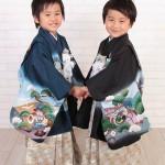 大阪の七五三写真撮影スタジオ・ハニーアンドクランチの男の子の和装のフォトギャラリーC035