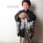 大阪の七五三写真撮影スタジオ・ハニーアンドクランチの男の子の和装のフォトギャラリーC037