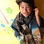 大阪の七五三写真撮影スタジオ・ハニーアンドクランチの男の子の和装のフォトギャラリーC038