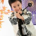 大阪の七五三写真撮影スタジオ・ハニーアンドクランチの男の子の和装のフォトギャラリーC044