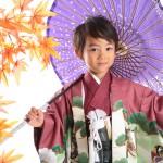 大阪の七五三写真撮影スタジオ・ハニーアンドクランチの男の子の和装のフォトギャラリーC045