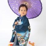 大阪の七五三写真撮影スタジオ・ハニーアンドクランチの男の子の和装のフォトギャラリーC066