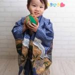 大阪の七五三写真撮影スタジオ・ハニーアンドクランチの男の子の和装のフォトギャラリーC071