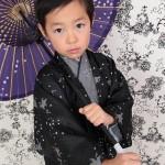 大阪の七五三写真撮影スタジオ・ハニーアンドクランチの男の子の和装のフォトギャラリーC083