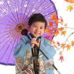 大阪の七五三写真撮影スタジオ・ハニーアンドクランチの男の子の和装のフォトギャラリーC084