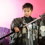大阪の七五三写真撮影スタジオ・ハニーアンドクランチの男の子の和装のフォトギャラリーC090
