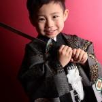 大阪の七五三写真撮影スタジオ・ハニーアンドクランチの男の子の和装のフォトギャラリーC096