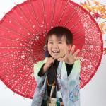 大阪の七五三写真撮影スタジオ・ハニーアンドクランチの男の子の和装のフォトギャラリーC098