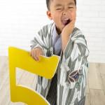 大阪の七五三写真撮影スタジオ・ハニーアンドクランチの男の子の和装のフォトギャラリーC099