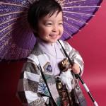 大阪の七五三写真撮影スタジオ・ハニーアンドクランチの男の子の和装のフォトギャラリーC103