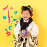 大阪の七五三写真撮影スタジオ・ハニーアンドクランチの男の子の和装のフォトギャラリーC107