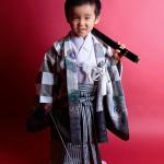 大阪の七五三写真撮影スタジオ・ハニーアンドクランチの男の子の和装のフォトギャラリーC110