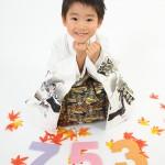 大阪の七五三写真撮影スタジオ・ハニーアンドクランチの男の子の和装のフォトギャラリーC113