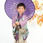 大阪の七五三写真撮影スタジオ・ハニーアンドクランチの男の子の和装のフォトギャラリーC114