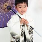 大阪の七五三写真撮影スタジオ・ハニーアンドクランチの男の子の和装のフォトギャラリーC115