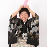 大阪の七五三写真撮影スタジオ・ハニーアンドクランチの男の子の和装のフォトギャラリーC127
