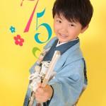 大阪の七五三写真撮影スタジオ・ハニーアンドクランチの男の子の和装のフォトギャラリーC129